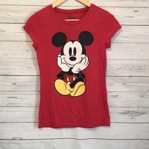 Disney Red Mickey Mouse T Shirt Medium